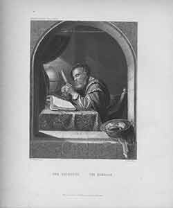 Der Gelehrte / The Scholar, engraving by William French after a painting by F.V. Mieris. Franz...