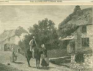 """The Village Postman,"" from August 9th, 1856 issue of The Illustrated London News. J. M. Carrick,..."
