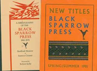 Announcement and publishing program for Spring/Summer 1981, and bibliography 1966-1978. Black...