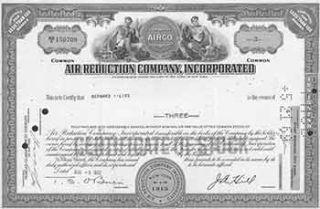 Certificate of 3 Fully-paid and Non-assessable Common Shares Without Par Value. Incorporated Air...