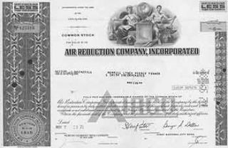 Certificate of 5 Fully-paid and Non-assessable Common Shares. Incorporated Air Reduction Company