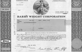 Certificate of 1 Fully-paid and Non-assessable Common Share. Barry Wright Corporation