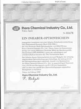 Ein Inhaber-Optionsschein. (A Bearer Warrant, or, Options.). Ltd Ihara Chemical Industry Co