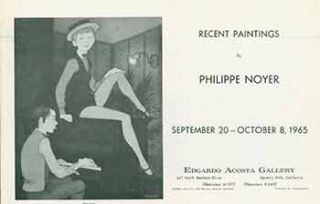 Brochure for Recent Paintings by Philippe Noyer, September 20 to October 8, 1965. Ltd Edgardo Acosta Gallery.