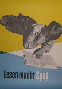 Lesen macht Spaß. (Exhibition Poster). 20th Century German Artist