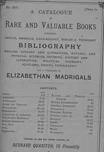 A Catalogue and Rare and Valuable Books (Number 237, February 1905).