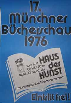 17 Münchner Bücherschau 1976. (Exhibition Poster). 20th Century German Artist