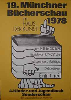 19. Münchner Bücherschau 1978, 17th Nov to 3rd Dec, 1978. (Poster). 20th Century German Artist