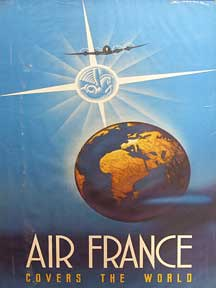 Air France Covers the World [poster]. Edmond Maurus