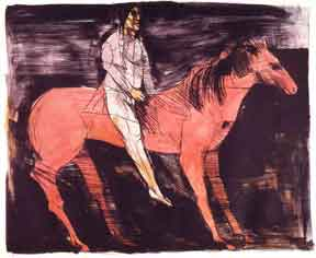 Scout/Man on Horse. Leonard Baskin.