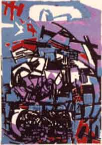Blue and Purple. Abraham Rattner.