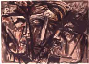 Prophets. (Three Heads). Abraham Rattner.