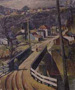 Bridge Leading into Town. Charles Surendorf