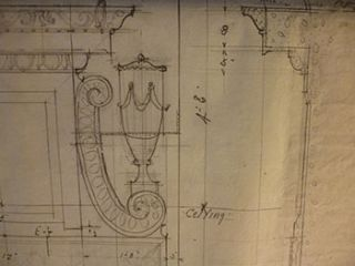 Building Plans , Decorative Detail and Elevation for a Structure, San Francisco. James H. Hjul