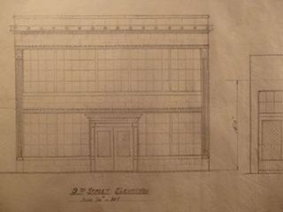Building Plans and Elevations for a Building for Carrie C. McLenegan. on 9th St. and Tehama St.,...