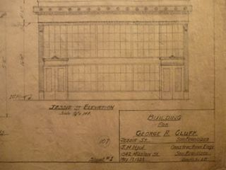 Building Plans and Elevation for a Building for George A. Cluff on Jessie St., San Francisco....