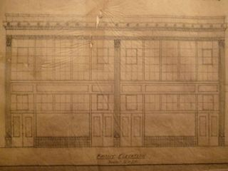 Building Plans and Elevation for a Building for James H. Hjul on Mission St., San Francisco....