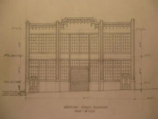 Building Plans and Elevation for a Building for James H. Hjul on Harrison St. and First St., San...