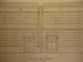 Building Plans and Elevation for a Building for James H. Hjul on 7th St. between 7th and Langton...