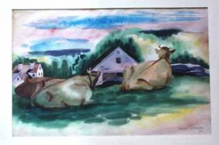 Cows at Robinhood, Maine I. Jason Schoener