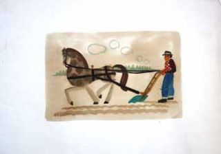 Farmer Plowing Field with Horse. Jason Schoener