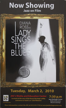 Unique poster for the film Lady Sings the Blues March 2, 2010. Diana Ross