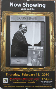 Unique poster for the film Count Basie Jazz Journal Live in '62. Feb. 18, 2010. Count Basie