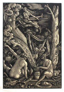 Hexensasbatt. (Witches' Sabbath). Hans Burgkmair