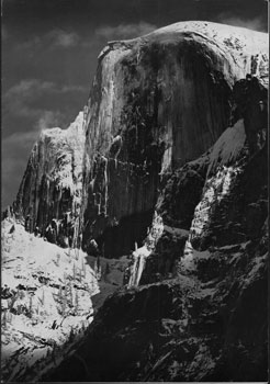 Photograph of Yosemite on Christmas Dinner Menu for Dept. of Speech and Drama of Stanford...