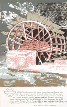 Waterwheel at Merton. Industrial Archaeology. Richard Bawden