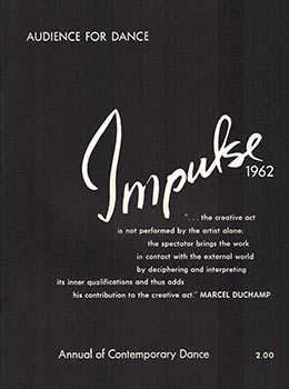Impulse. The Annual of Contemporary Dance. Audience for Dance. Carroll Russell, Carol Scothorn,...