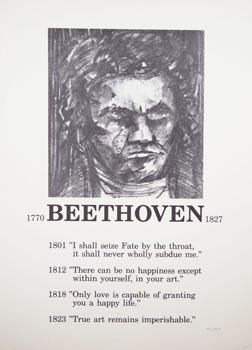 Portrait of Beethoven. Poster. Mark Luca
