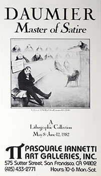 Poster for Daumier, Master of Satire. Honoré Daumier