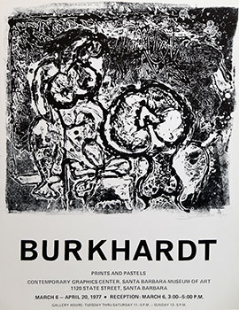 Poster for Burkhardt. Prints and Pastels. Hans Burkhardt
