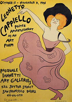 Poster for Exhibition Leonetto Cappiello, Poster Advertisement as Art Form. Leonetto Cappiello