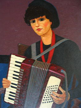 Maria with Accordion. John Payne