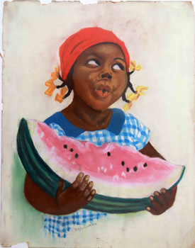 Picaninny with Watermelon. R. M. Averitt