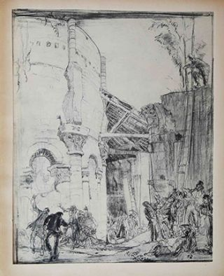 Study for the etching Abbey of St. Leonard, Tours (Gaunt, 215). Frank Brangwyn