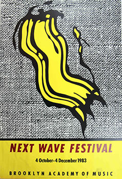Next Wave Festival. Brooklyn Academy of Music.1983. Poster. Roy Lichtenstein