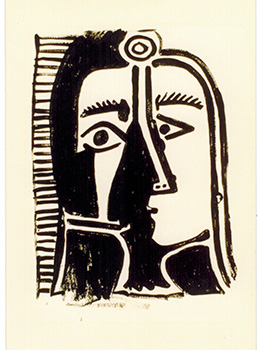 Untitled [Picasso Head]. Photograph with Certificate of Authenticity. Andy Warhol, Frederick W....