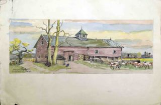 A Dairy Farm in Lakewood, New Jersey. Julius M. Delbos