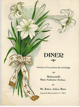 Marriage dinner for Marie Catherine Godeau and Robert Aitken Muire Bergez-Frank's Old Poodle Dog...