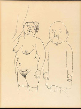 Ehepaar (Silberne Hochzeit) (Married Couple -Silver Wedding). George Grosz