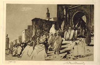 The Basha entering the Kasbah - Tangier [Morocco]. David Donald