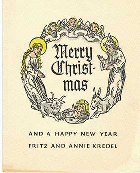 Merry Christmas: With sacred figures in a Circle. Fritz Kredel