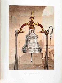 Bell in Silver and Bronze by Hadank & son. Hoyerswerda, Germany. Hadank, Germany Son of Hoyerswerda