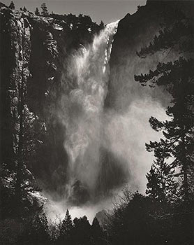 Bridalveil Fall, Yosemite National Park, California, [1927]. Printed by Alan Ross from Ansel...