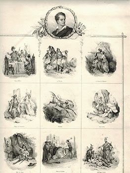 Scenes from Lord Byron's Epic poems. Victor Adam