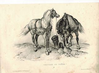 Chevaux de Poste. (Carriage Horses). Victor Adam