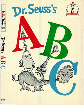 Dr. Seuss's A B C. ( Dust-jaCKET ONLY. 1st edition, first state.). Dr. Seuss, Theodore Geisel